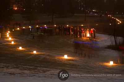 2012 City of Lakes Loppet-Saturday Nightfall - Park Nicollet Luminary, Kubb Tournament and Walking Around 2-4-12