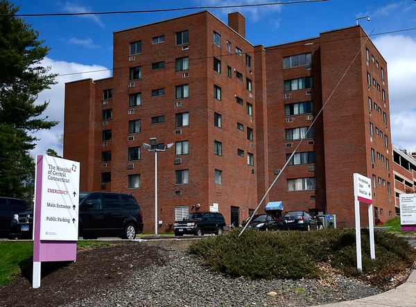 4/16/2020 Mike Orazzi | Staff The Hospital of Central Connecticut in New Britain.