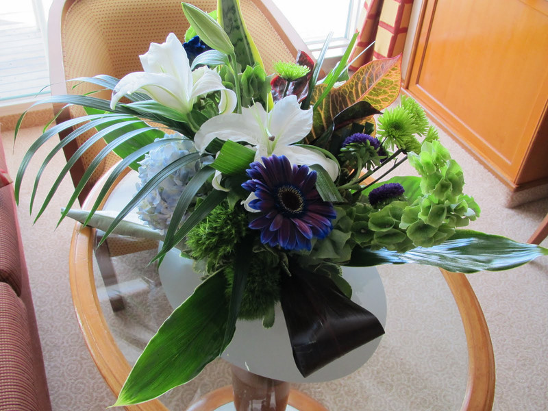 Nice floral arrangement awaited us in our room