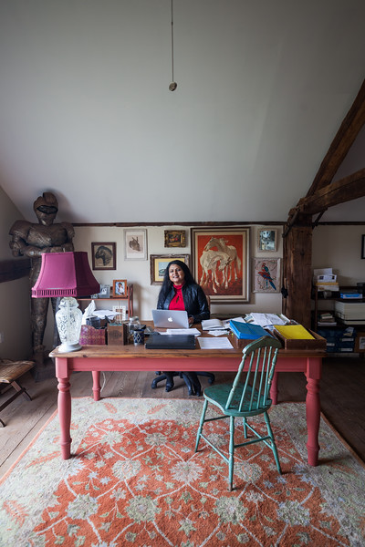 Nirmala Narine's Hudson Valley farm in New Paltz, NY. Nirmala also operates a retail store on her property, Nirmala's Kitchen. Nirmala in her office.