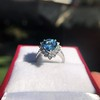 3.30ctw Aquamarine and Diamond Cluster Ring 18