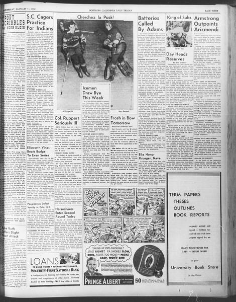 Daily Trojan, Vol. 30, No. 64, January 11, 1939