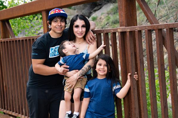 Family Portrait June 2021 Jerico, Jasmine, Noah, and Zion