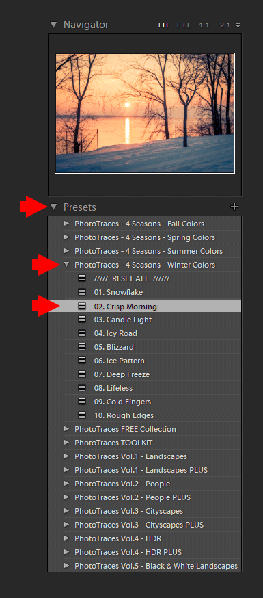 Using Lightroom Presets in the Develop Module