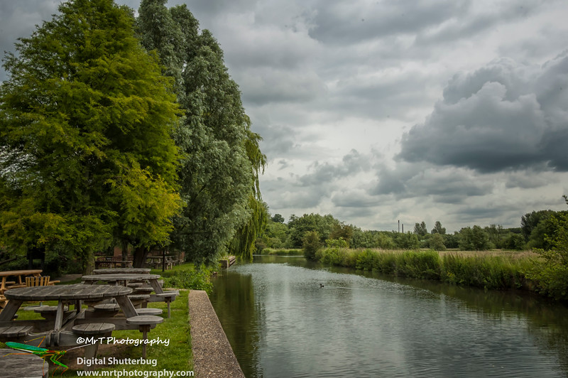 Canal bank Old Harlow Essex UK