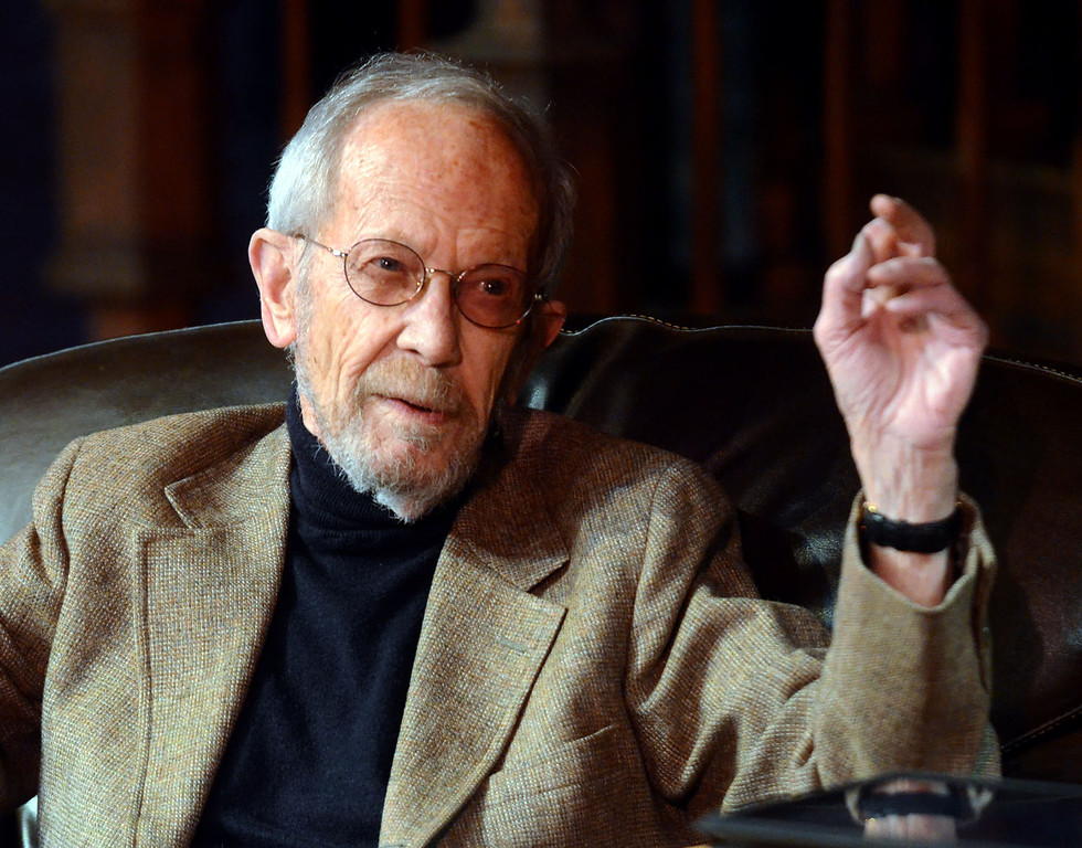 . Elmore Leonard speaks about the books he\'s written while visiting Oakland University, pictured Wednesday November 28, 2012.  (Oakland Press Photo By: Vaughn Gurganian)