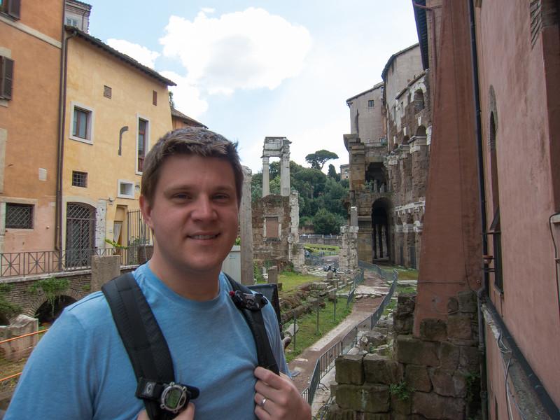 Ruins near the Portico of Octavia in the Roman Ghetto.