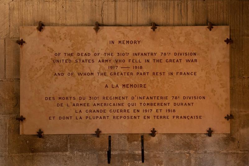 Semur-en-Auxois - Collegiale - U.S. Military Plaque-1