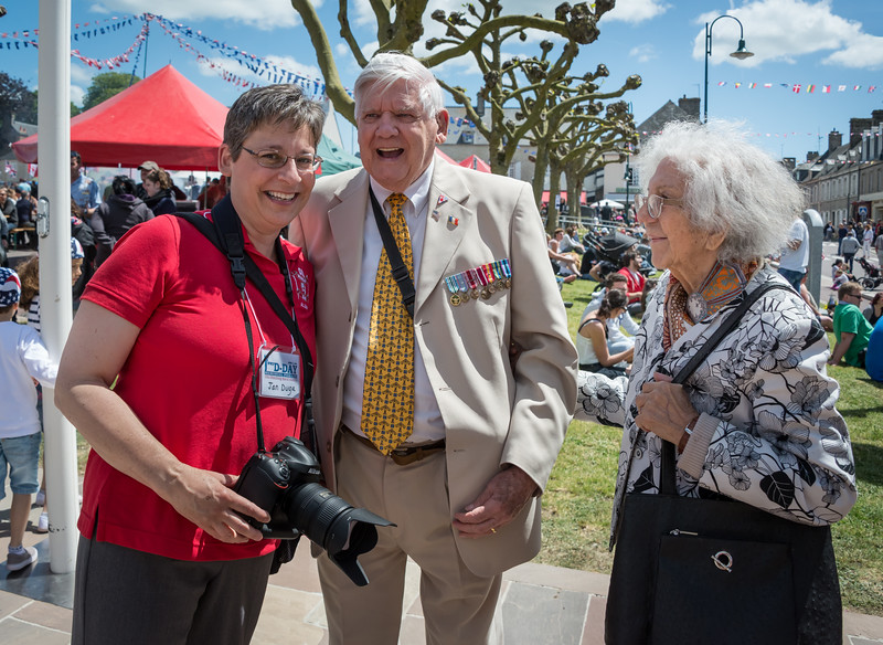 Jan and I happened to meet D-Day veteran Donald Kidd and his wife.  Don was full of stories!
