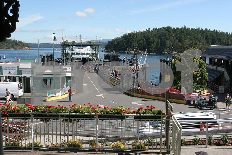 The ferry terminal at Friday Harbor on San Juan Island.