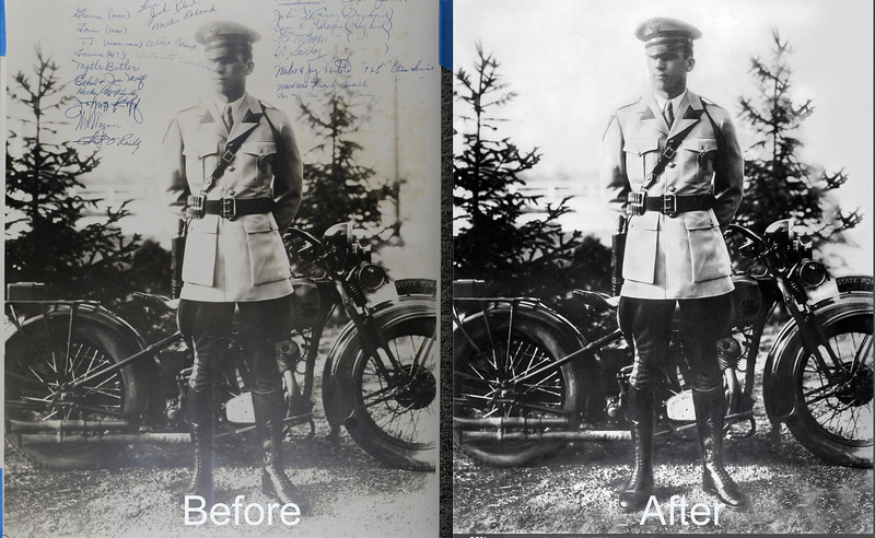 """""""Silvering"""" is a form of photo damage that happens to silver-based emulsions. You can identify a silvering print by the metallic mirroring effect on the surface. When a photo starts to silver, it will not stop.   If your photo has started to silver, don't give up. There are ways to slow the process down and digitally capture the photo. Here are a few best practices: 1- Restoration. Have the image digitally restored by a professional  2-Properly store your photos. Storing images in a temperature controlled environment will help all of your photos, not just the silvering ones. Photos should be stored in archival albums and/or boxes using acid-free materials. 3-Do not scan a silvering photo. Not only will you end up with a digital file that has a metallic sheen to it, you will cause more damage and speed up the silvering process. A professional can help you digitize the photo without scanning. It is important to work with someone who has the proprietary methods necessary to shoot through the damage and capture the image underneath.  #PhotoRestoration #PhotoRepair #OldPhotoRestoration #BeforeAndAfter #retouch #retoucher #SouthFloridaPhotoRestoration #OldPhotos #FamilyTree #VintagePhotos #saveOldPhotos #CandaceWestPhotoRestoration #SavingYesterday #Archivist"""