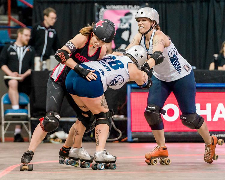 2018 WFTDA  Championships New Orleans Game12 Gotham Denver 3rd 4th ©Keith Bielat