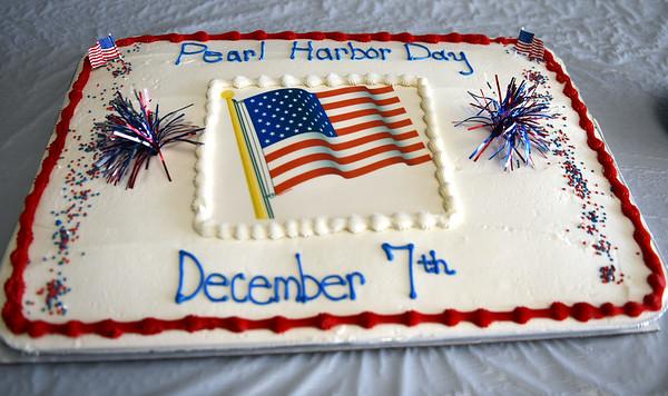 12/7/2019 Mike Orazzi | StaffrThe Pearl Harbor Day cake at the Bristol American Legion Seicheprey Post 2 on Saturday morning.