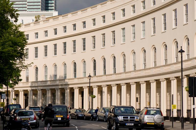 Architecture on Park Crescent, W1, London, United Kingdom