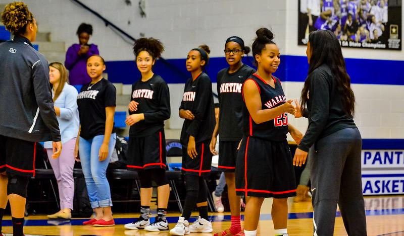 Lady Panthers Varsity Arlington Martin 01-22-16-17