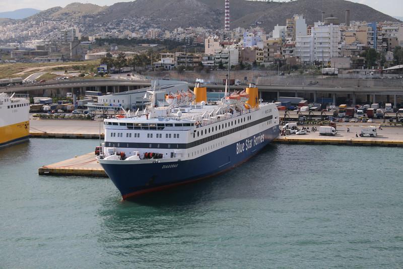 F/B DIAGORAS embarking in Piraeus.