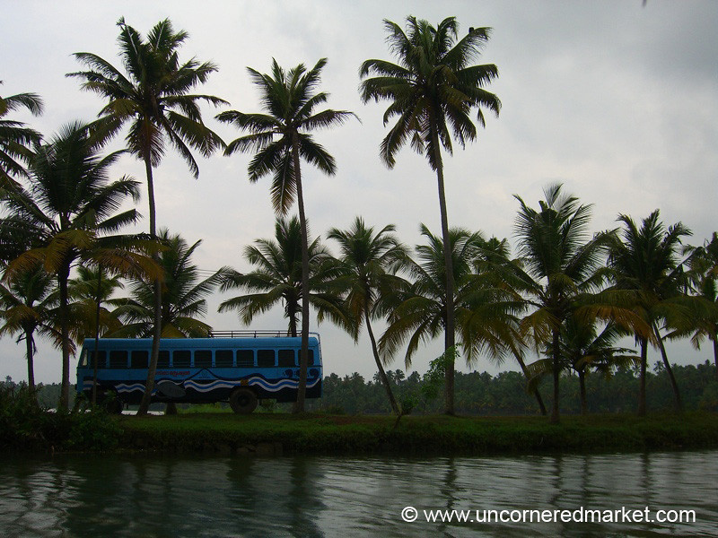 How Did That Bus Get There Again? Kerala Backwaters, India