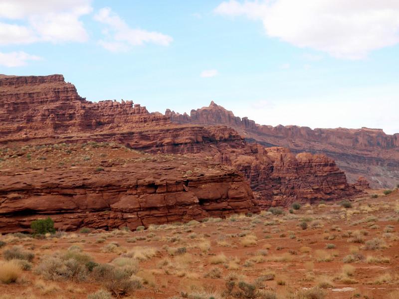 Climbing Hurrah Pass Near Moab, UT