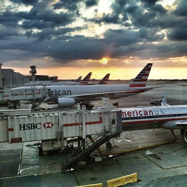 A lovely #Miami #sunset with @americanair