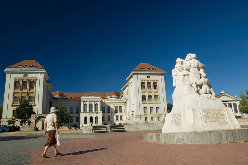 Old University building, Iasi, Moldavia, Romania