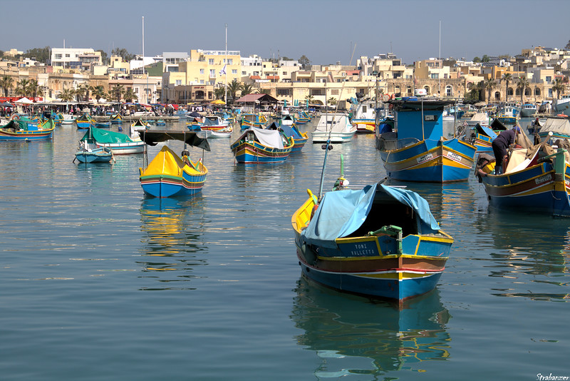 Malta.   Marsaxlokk Harbor    03/24/19.    