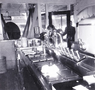 Interior shot of the entry to the Sun Confectionary - Undated