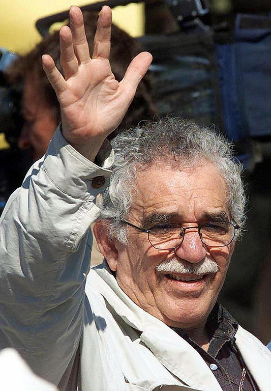 """. Picture taken on January 7, 1999 showing Nobel Prize in Literature winner Gabriel Garcia Marquez in San Vicente de Caguan, Colombia. Colombia\'s Nobel-winning novelist Gabriel Garcia Marquez died on April 17, 2014 in Mexico City at the age of 87, Mexican and Colombian media reported. Garcia Marquez, the author of \""""One Hundred Years of Solitude,\"""" passed away at his home with his wife and two sons by his side, Mexico\'s Televisa anchor Joaquin Lopez-Doriga said on Twitter, echoing reports in Mexican and Colombian newspapers.  (MARCELO SALINAS/AFP/Getty Images)"""