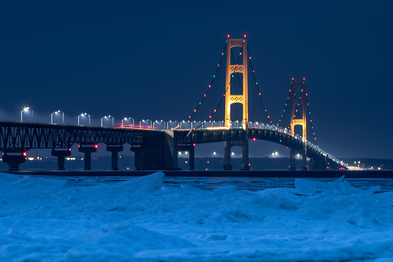 Icy Straights of Mackinac.