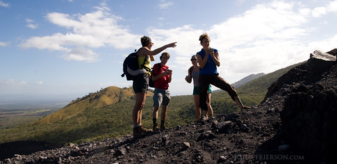 Pause during the climb up Cerro Negro Volcano