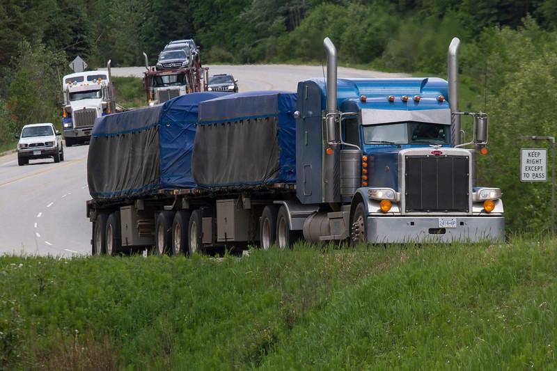 Trucks on the Yellowhead Highway