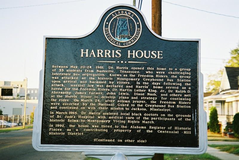 Harris House signage - Bob Durkee