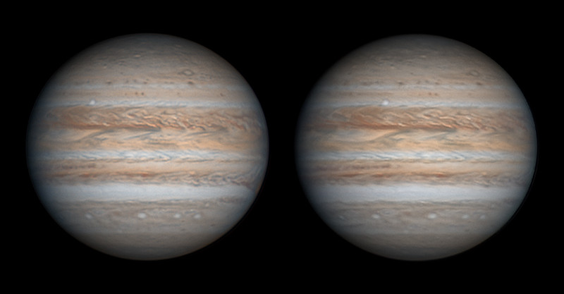 Jupiter & North Temperate Belt Outbreak on August 18, 2020