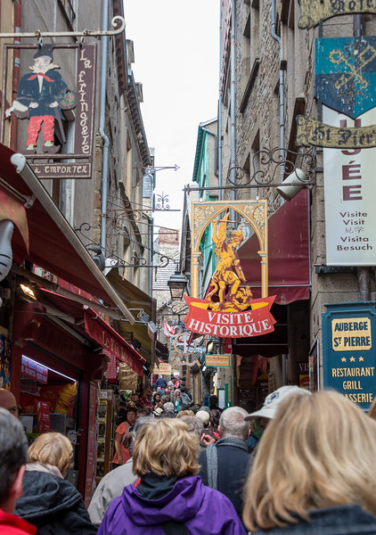 """Starting up the Grande Rue.  No optical illusion -- village """"streets"""" are truly just a few humans wide, and steeply sloped for most of their length."""