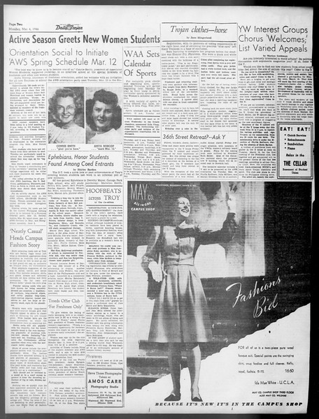 Daily Trojan, Vol. 37, No. 76, March 04, 1946