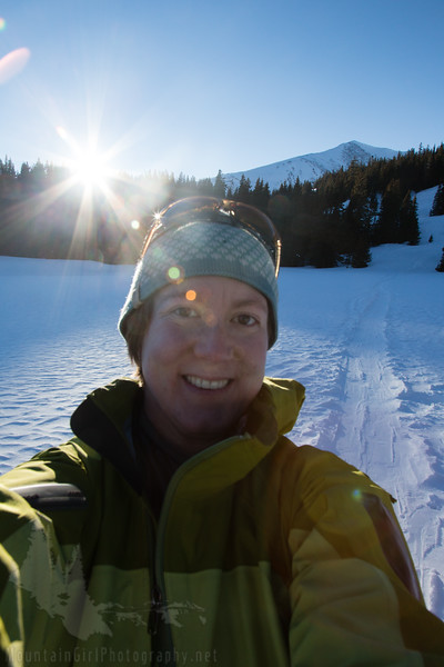 Hut trip selfie...harder to do with a big camera than with a cell phone!