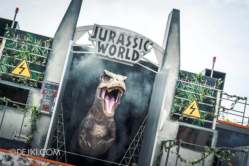 Universal Studios Singapore Park Update - Jurassic World Explore and Roar event - Jurassic World: ROAR! show / T-Rex Unleashed