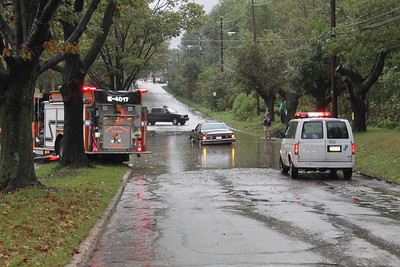 Flooded Road, Car in Water, Coaldale (9-28-2011)