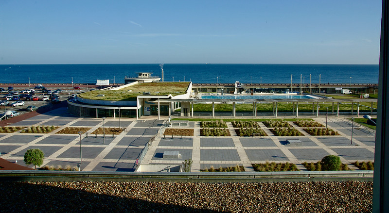 View from our hotel in Dieppe, on the Normandy coast