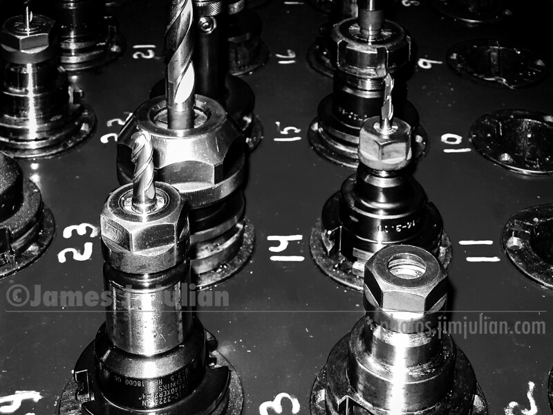 Drill Bits in Chucks 1 BW