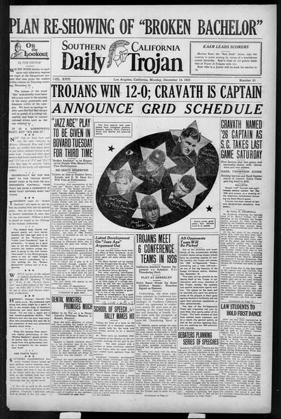 Daily Trojan, Vol. 17, No. 61, December 14, 1925