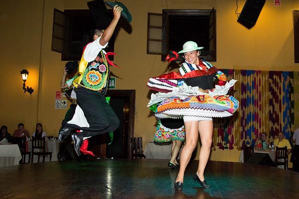 La Dama Juana Restaurant - Traditional Cusine, and show, Peru - May, 2015