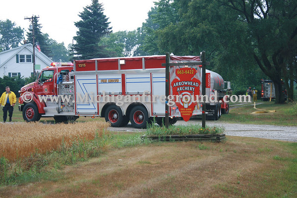 7/27/11 - Eaton Rapids Twp electrical fire, 2250 S. Waverly