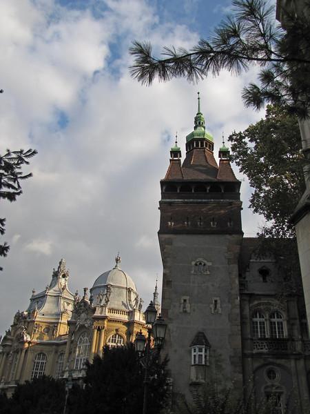 82-Vajdahunyad Castle, three of the towers
