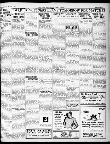 Southern California Daily Trojan, Vol. 21, No. 95, March 05, 1930