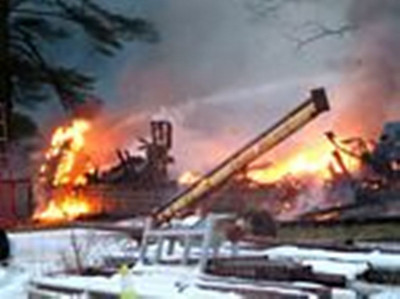 RYAN TOWNSHIP BARN FIRE 11-12-09