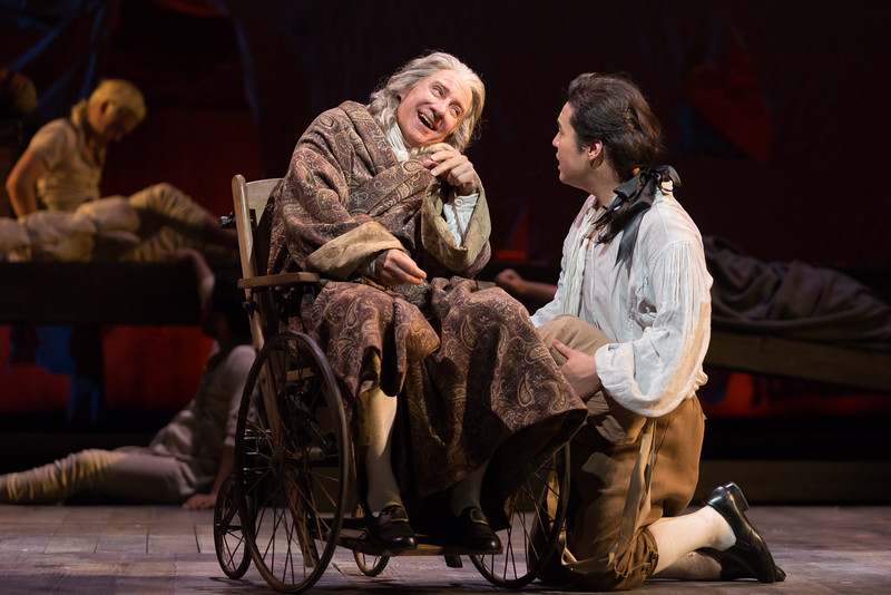 "David Garrison as Pangloss and Andrew Stenson as Candide in The Glimmerglass Festival's 2015 production of Bernstein's ""Candide."" Photo: Karli Cadel/The Glimmerglass Festival."