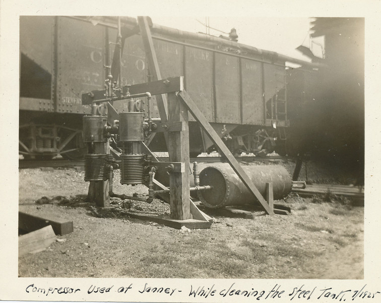 Compressor used at Janney- While cleaning the steel tank 7-1925.jpg