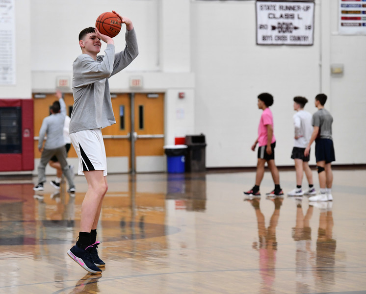 3/7/2020 Mike Orazzi | Staff Bristol Central High School's Donovan Clingan during practice on Saturday.