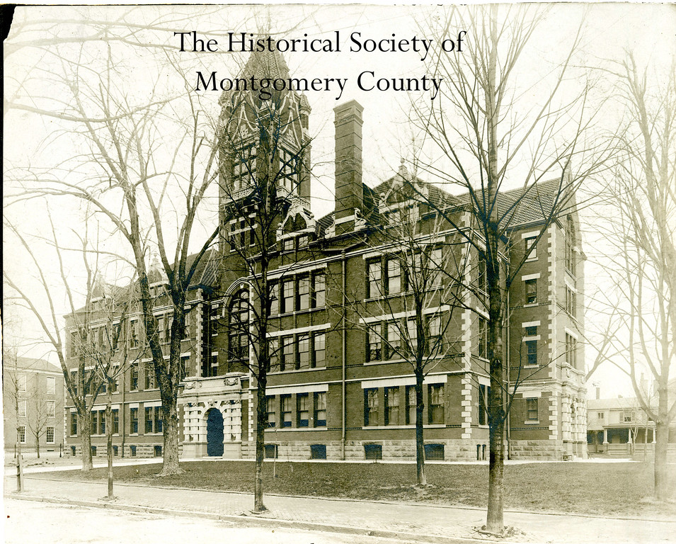 . This undated photo from the Historical Society of Montgomery County shows the old Norristown High School building.
