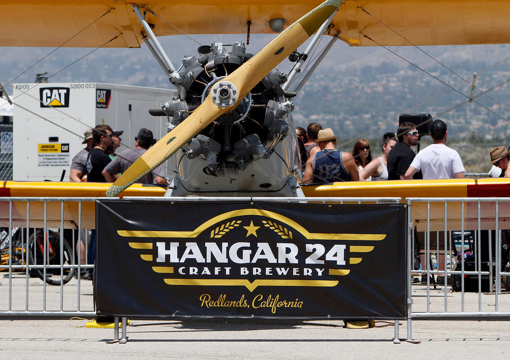 . The Hangar 24 AirFest and 6th Anniversary Celebration takes place on Friday, May 16, 2014 at the Redlands Municipal Airport in Redlands, Ca. (Photo by Micah Escamilla/Redlands Daily Facts)
